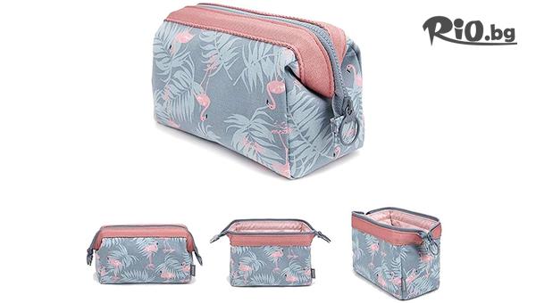 Козметична чантичка Фламинго #1
