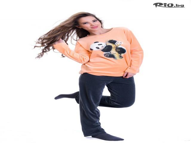 372b1f73051 Плюшена дамска пижама с илюстрация на панда с 54% отстъпка - за ...