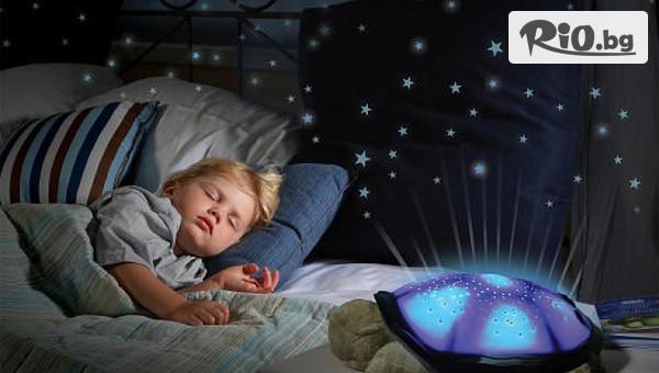 Музикална детска нощна лампа Костенурка #1