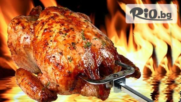 Голямо печено пиле + картофи #1