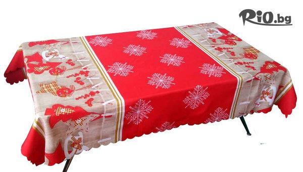 Коледна покривка за маса #1
