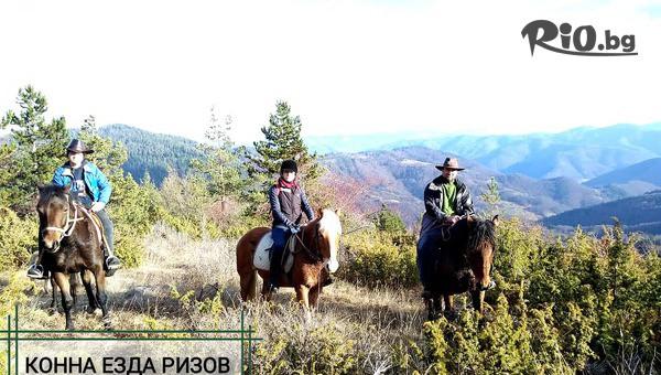 Едночасова разходка с коне за 4 човека #1