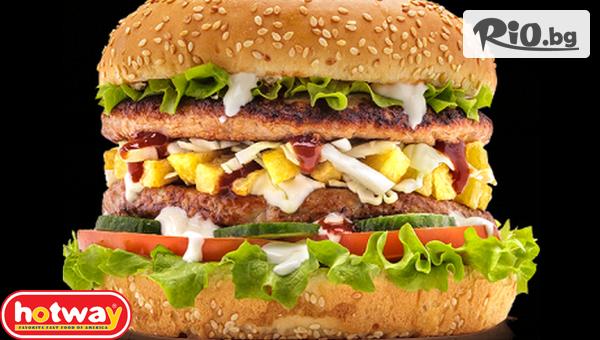 роен пилешки бургер + Айрян #1