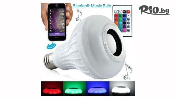 Smart крушка с Bluetooth колонка #1