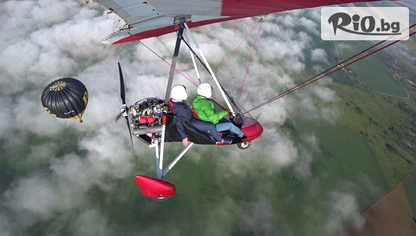 Полет с мотоделтапланер #1