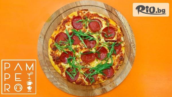 Голяма пица + Парче торта #1