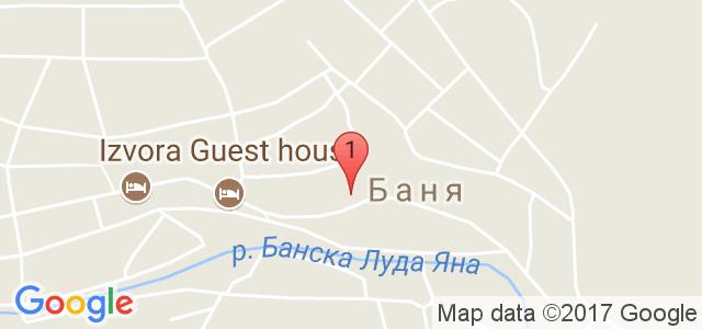 Къща за гости Извора Карта