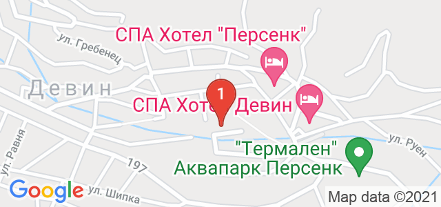 Хотел Евридика Карта
