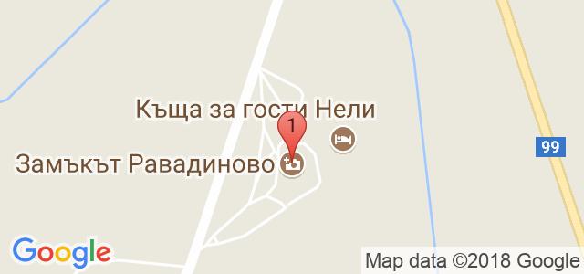 Замъка Равадиново Карта
