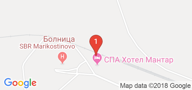 СПА хотел Мантар 4* Карта