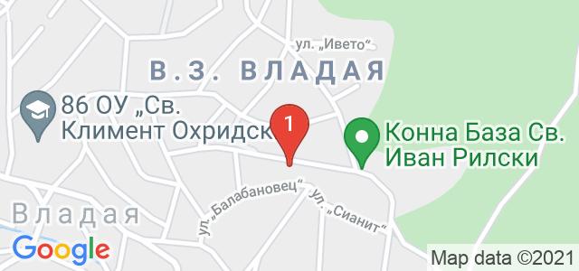 Конна база Св. Иван Рилски Карта
