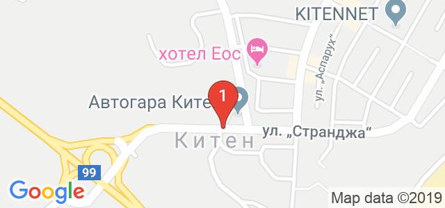 Китен Бийч Карта