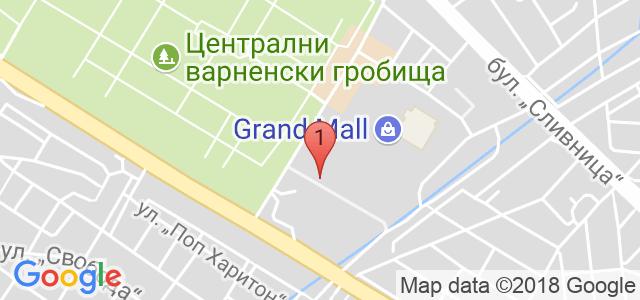 център за забавления Карта