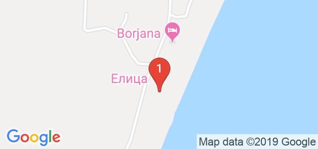 Хотел Елица Карта