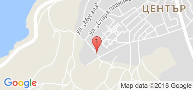 Къща за гости Polina Beach Карта