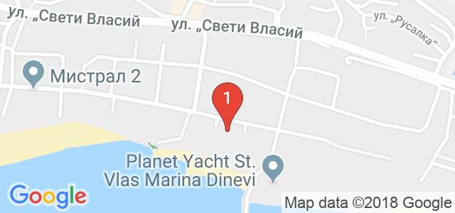 Хотел Галактик** - св. Влас Карта