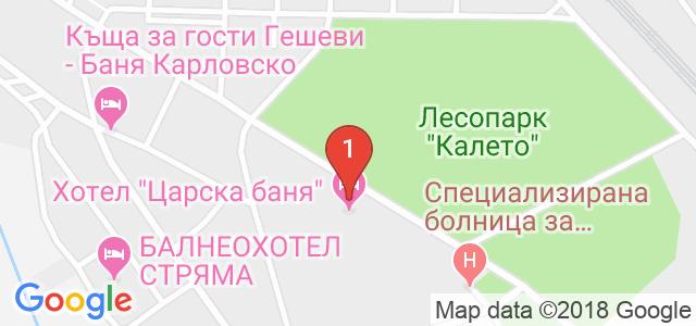 Хотел Царска баня Карта