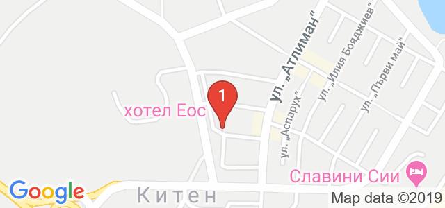 Хотел ЕОС Карта