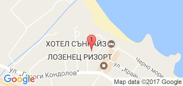 Хотел Атива 3* Карта