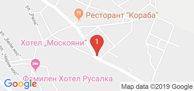Хотел Кристина и Иван Москояни Карта