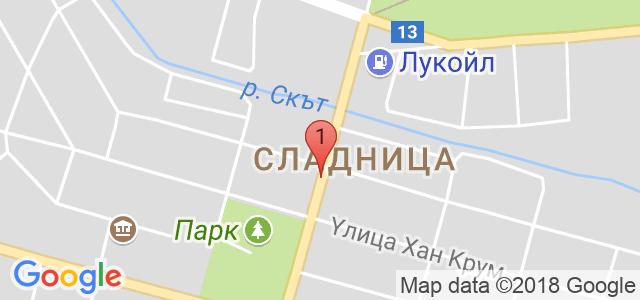 Хотел Шато Слатина 3* Карта