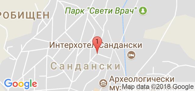 Алекс Спа*** Хотел гр. Сандански Карта