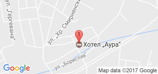Балнеохотел Аура Карта