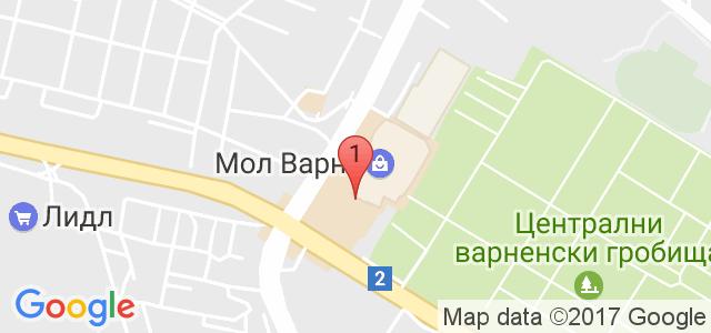 Кафе-Сладкарница Mado Мall Varna Карта
