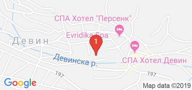 Хотел Евридика 3* Карта