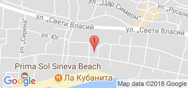 Хотел Тропикс Карта