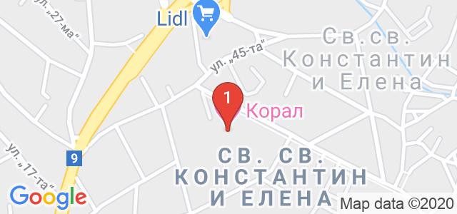 Хотел Корал Карта