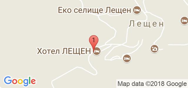 Хотел Лещен Карта