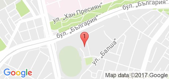 Тенис кортове Раковски Карта