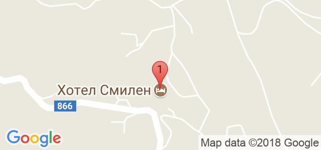 Хотел Смилен 3* Карта