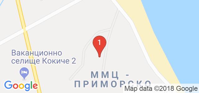 Хотел Форест Бийч 4* Карта
