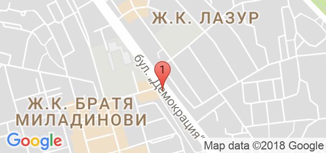 Здравен и спортен център Аякс Карта