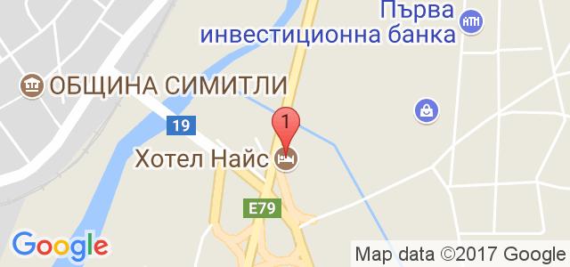 Хотел Найс 3* Карта