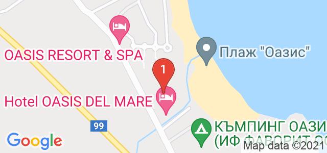 Оазис Бийч Клуб  Карта