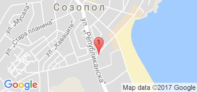 Хотел Флагман - Созопол Карта